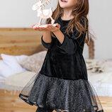 Детское платье бархатное 98-140 см.