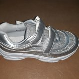 Легкие серебристые кроссовки на девочку 32-37 р Солнце, кросовки, кросівки, дівчинку, физкультуру