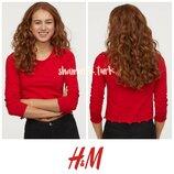 Базовая футболка лонгслив хлопок лонгслів бавовна h&m basic