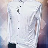 Rubaska, турецька чоловіча сорочка однотонного білого кольору