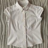 Белая школьная блузка next на девочку на рост 116-122