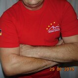 Фирменная катоновая спортивная футболка Шумахер Michael Schumacher.л .
