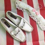 Мегаудобные кожаные туфли мокасины Pierre Cardin