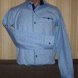 Рубашка трансформер приталенная для юниоров 164,170,176,180 Турция