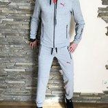 Спортивный комплект Puma Motorsport gray светло-серый