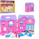 Кукольный домик с мебелью и фигурками