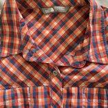 Отличная рубашка с коротким рукавом в клетку The North Face L