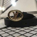 Ремень кожаный в стиле Louis Vuitton, Луи Виттон