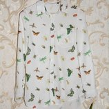 Стильная белая рубашка, блуза, S,8,36,44, M,10,38,46 Состояние новой