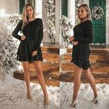 Красивое платье Травка в Класическом Черном цвете