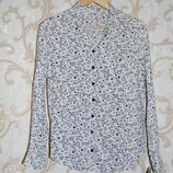 Белая рубашка с сердцами,S,8,36,44 Состояние новой