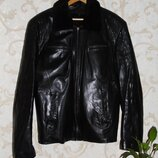 Черная кожанная куртка, XL,XXL,50,52, 42,44 Состояние отличное