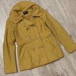 Шерстяное короткое пальто бренд Sasha design and quality размер с