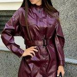 Платье-Рубашка кожа,эластан 42-44
