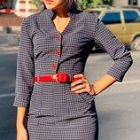 Платье костюмный креп 42,44,46