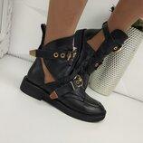 Женские ботинки Баленсиага Код 1249 Мат.верха Кожа Внутри Кожа