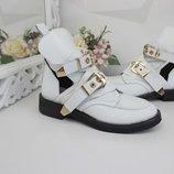 Женские ботинки Баленсиага Код 1291 Мат.верха Кожа Внутри Кожа