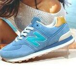 Мужские кроссовки New Balance 574 голубой 41р-45р