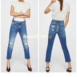 Джинсы рваные с двойным поясом хлопок джинси рвані Mango