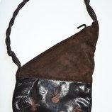 Кожаная сумочка с росписью ручной работы , италия
