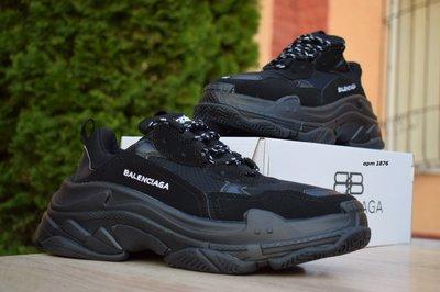 Кроссовки мужские Balenciaga Triple S black 36-45р