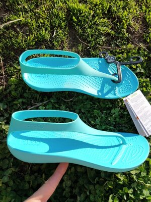 женские босоножки Crocs Serena Flip флипы крокс Босоножки крокс Serena размер w6