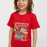 Оригинальная футболка с принтом от бренда H&M разм. 110-116 4-6лет