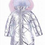 Pilguni 2019 Star Wars пальто с розовым песцом серебро