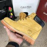 Ботинки Timberland 6-Inch Premium Waterproof Yellow Boot кожа нубук