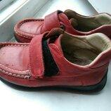 Красные кожаные туфли из натуральной кожи 18,5 см