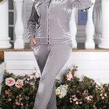 Спортивный костюм велюр 48-50,52-54,56-58