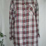 Удлиненная рубашка в клетку h&m 16p