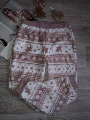 Обновы Крутые пушистые штаны для дома р 12 не ношено сток