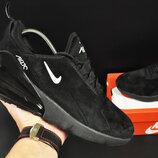 Кроссовки мужские Nike Air Max 270 замш черные
