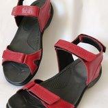 Mante Xbiom Кожаные красные женские летние сандалии босоножки без каблука