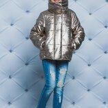 Куртка для девочки демисизонная золото 122-152