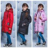 Стильная куртка-пальто// утеплитель - силикон 122 152