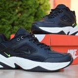 Кроссовки мужские Nike M2K Tekno черные с салатовым
