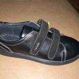 Черные кожаные спортивные туфли на мальчика 32-39 р. Jordan, туфлі, Джордан, кроссовки, кросовки
