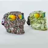 Мотоочки череп с маской пол-лица MZ-6 линза хамелеон