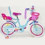 Эльза холодное сердце 14 16 18 20 велосипед для девочки двухколесный