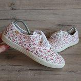 Балетки мокасины Хоттер Hotter Mabel Pink Floral Canvas 39 р 25 см текстиль