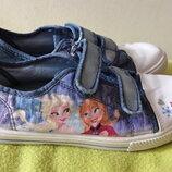 Disney кеды Frozen Ельза Анна 22 см стелька