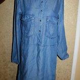 М разм. Платье Mango Jeans. Очень стильное, рукав можно сделать и короче с помощью пуговки, есть ка