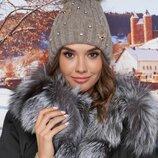 Зимняя шапка, мех енот натуральный,цвета