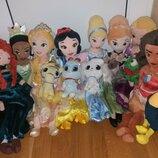 Мягкие куклы 50 см принцессы из мультфильмов Дисней Disney со своими питомцами