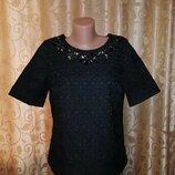 Красивая женская кофта с коротким рукавом, блузка Marks & Spencer
