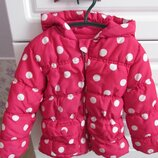 Теплая куртка f&f на 2-3 года