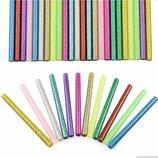 Цветные клеевые стержни с блёстками 7 × 100 мм