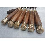Шампура Классические с деревянными ручками в кожаном колчане 6шт